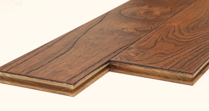 Deluxe Caramelised Teak Lacquered Solid Wood Flooring - Descriptive 7