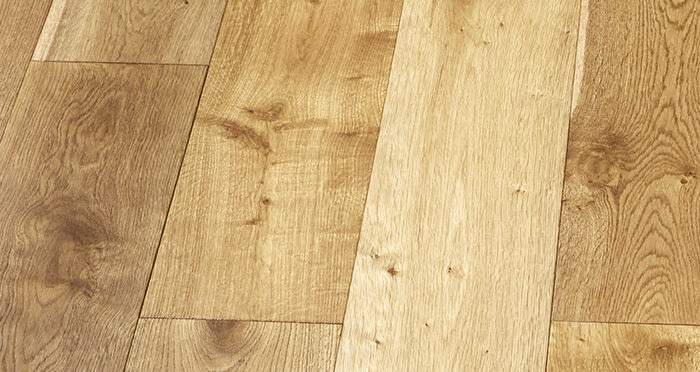 Old Country Golden Smoked Oak Brushed & Lacquered Engineered Wood Flooring - Descriptive 5