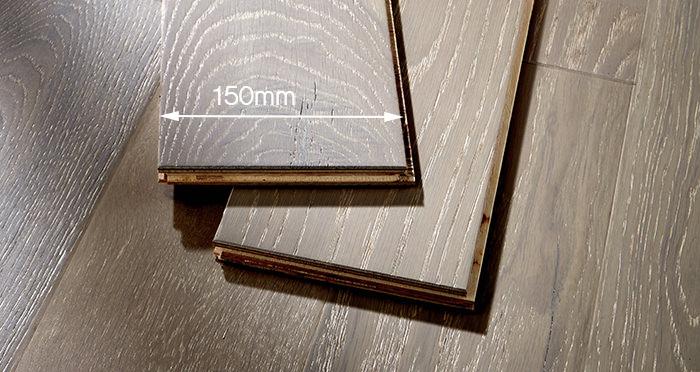Loft Pearl Grey Oak Brushed & UV Lacquered Engineered Wood Flooring - Descriptive 3