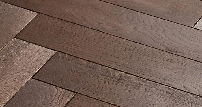 Park Avenue Herringbone Chocolate Oak Solid Wood Flooring - Descriptive 4