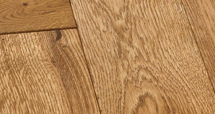 Luxury Parquet Golden Oiled Oak Solid Wood Flooring - Descriptive 3