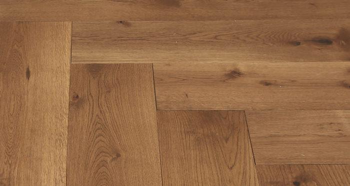 Prestige Herringbone Cinnamon Oak Oiled Engineered Wood Flooring - Descriptive 4