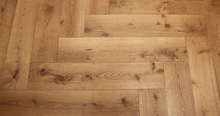 Prestige Herringbone Cinnamon Oak Oiled Engineered Wood Flooring - Descriptive 6