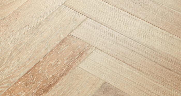 Branscombe Whitewashed Harbour Herringbone Oak Engineered Wood Flooring - Descriptive 2