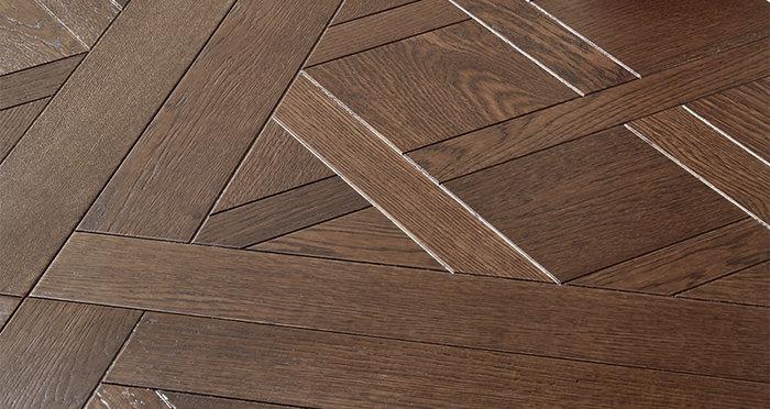 Bordeaux Antique Oak Brushed & Oiled Versailles Tile Engineered Wood Flooring - Descriptive 1