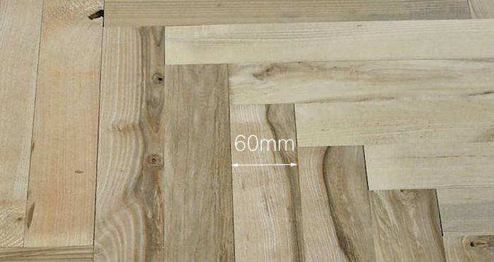 Solid Ash Parquet Unfinished Solid Wood Flooring - Descriptive 4