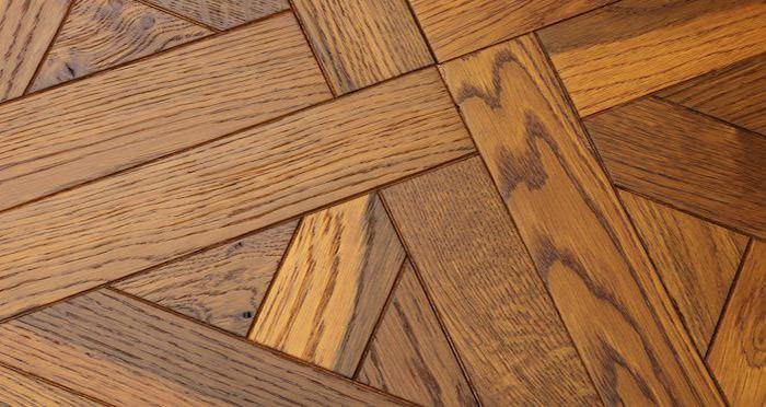 Montpellier Golden Smoked Oak Brushed & Oiled Versailles Tile Engineered Wood Flooring - Descriptive 2