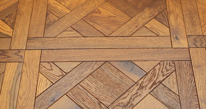 Montpellier Golden Smoked Oak Brushed & Oiled Versailles Tile Engineered Wood Flooring - Descriptive 5