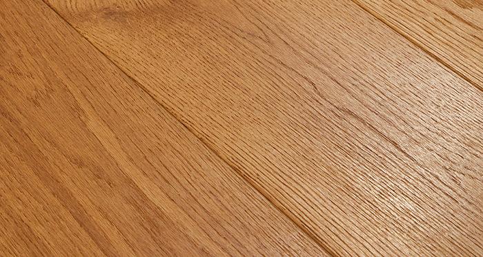 Farmhouse Antique Golden Oak Brushed & Oiled Engineered Wood Flooring - Descriptive 1