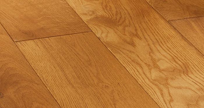 Farmhouse Antique Golden Oak Brushed & Oiled Engineered Wood Flooring - Descriptive 4