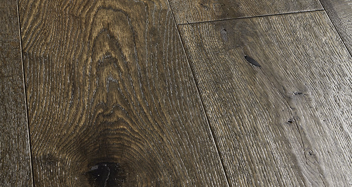 Smoked Old French Oak 240mm Lacquered Engineered Wood Flooring - Descriptive 1