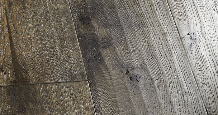 Smoked Old French Oak 240mm Lacquered Engineered Wood Flooring - Descriptive 2