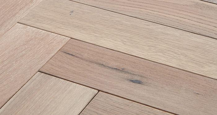 Park Avenue Herringbone Frosted Oak Solid Wood Flooring - Descriptive 1