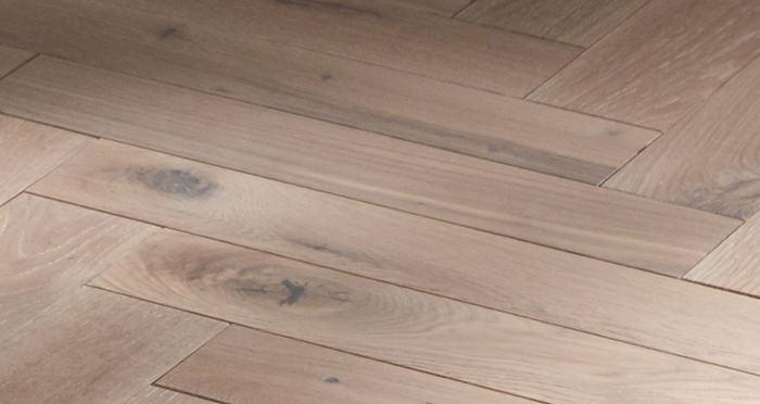 Park Avenue Herringbone Frosted Oak Solid Wood Flooring - Descriptive 2