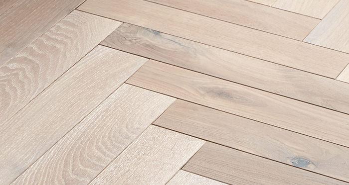 Park Avenue Herringbone Frosted Oak Solid Wood Flooring - Descriptive 5