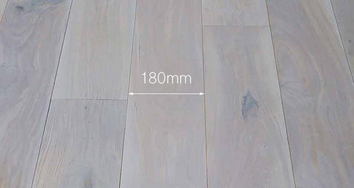 Luxury Frosted Oak Solid Wood Flooring - Descriptive 3