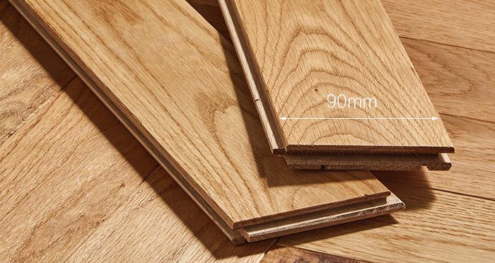 Trade Select Natural Oiled Herringbone Parquet Oak Solid Wood Flooring - Descriptive 3
