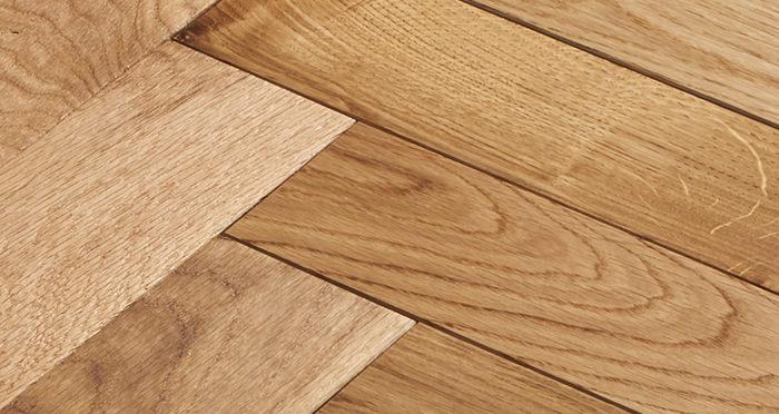 Trade Select Natural Oiled Herringbone Parquet Oak Solid Wood Flooring - Descriptive 4