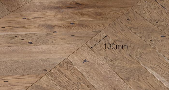 Chelsea Chevron - Urban Oak Brushed & Lacquered Engineered Wood Flooring - Descriptive 3