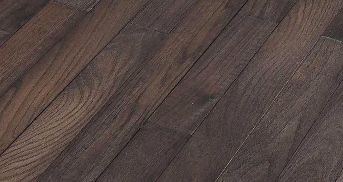 Classic Oak Espresso Brushed & Oiled Solid Wood Flooring - Descriptive 1