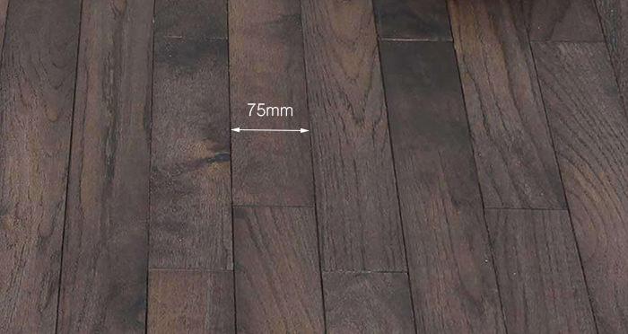 Classic Oak Espresso Brushed & Oiled Solid Wood Flooring - Descriptive 3