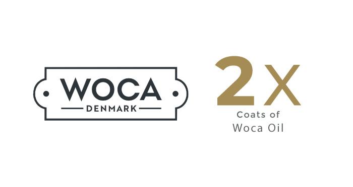 Dual Coating of WOCA Oil